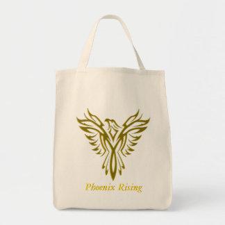 Tote Bag Phoenix d'or se levant des flammes