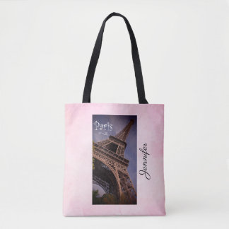 Tote Bag Photo célèbre de point de repère de Tour Eiffel de