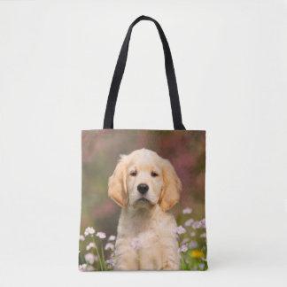 Tote Bag Photo mignonne de chiot de chien de golden