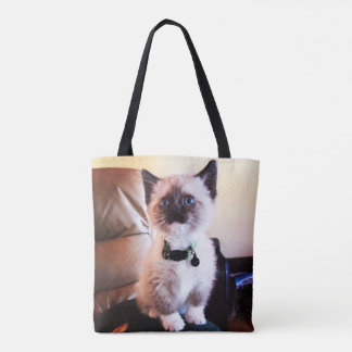 Tote Bag Photo siamoise masquée adorable de chaton observée