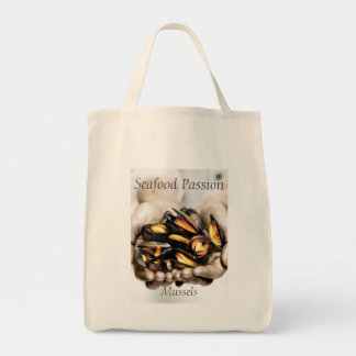 Tote Bag Photographie de moules de fruits de mer avec le