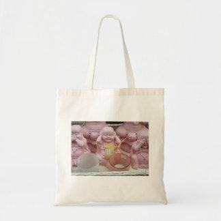 Tote Bag Photographie néerlandaise Buddhas rose heureux