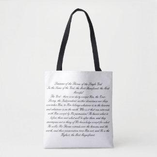 Tote Bag Phrase du trône de Dieu simple