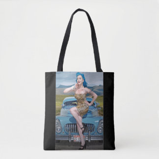 Tote Bag Pin de hot rod de léopard de Jane de jungle vers