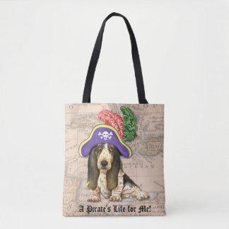Tote Bag Pirate de Basset Hound