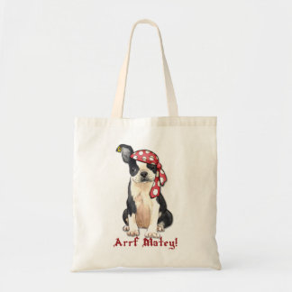 Tote Bag Pirate de Boston Terrier