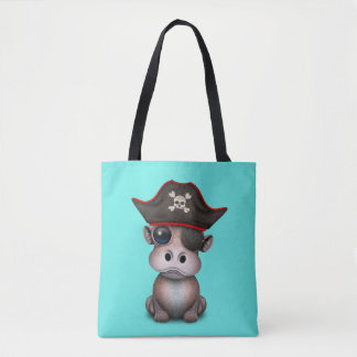 Tote Bag Pirate mignon d'hippopotame de bébé