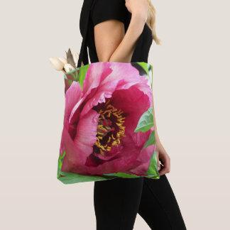 Tote Bag Pivoine rouge florale