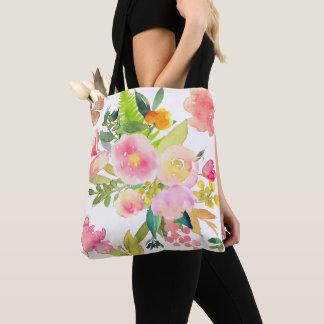 Tote Bag PixDezines floral/bouquet d'aquarelle/ressort