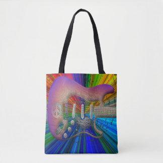 Tote Bag Pleine image Fourre-tout de couleurs de guitare