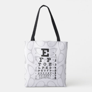 Tote Bag Plots réflectorisés de diagramme d'oeil d'art de