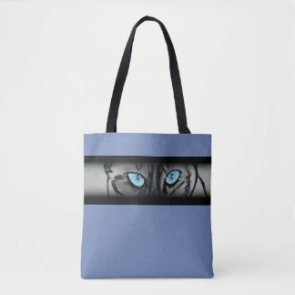 Tote Bag Plots réflectorisés siamois dans le bleu