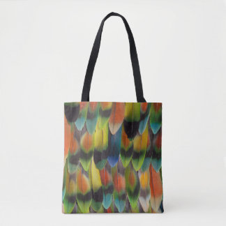 Tote Bag Plumes de queue colorées de perruche