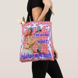 Tote Bag Plus sage plus ancien de cow-girl vintage plus