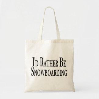 Tote Bag Plutôt fasse du surf des neiges