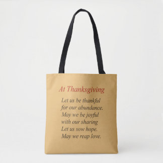 Tote Bag Poésie de thanksgiving