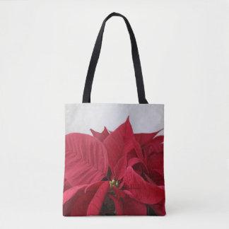 Tote Bag Poinsettia de Noël