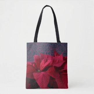 Tote Bag Poinsettias rouges sur l'arrière - plan décoratif