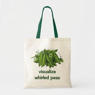 Tote Bag Pois instantanés vintages de sucre, légumes sains