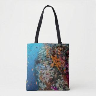Tote Bag Poissons et récif coralien pittoresques