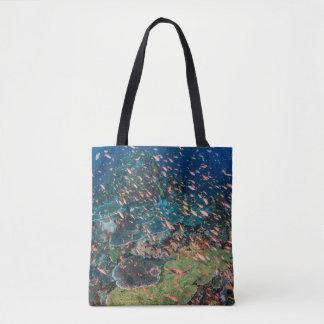 Tote Bag Poissons nageant au-dessus du récif