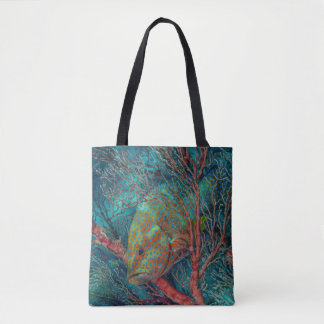 Tote Bag Poissons se cachant dans la fan de mer