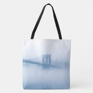 Tote Bag Pont de Brooklyn brumeux