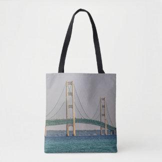 Tote Bag Pont de Mackinac majestueux