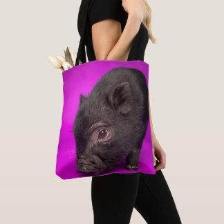 Tote Bag Porc noir de bébé