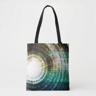 Tote Bag Portail futuriste de technologie avec Digitals