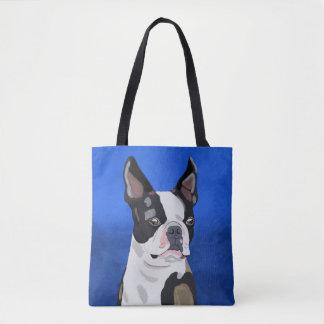 Tote Bag Portrait d'art de peinture à l'huile de chien de