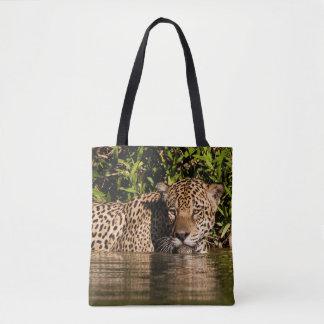 Tote Bag Portrait de Jaguar nageant