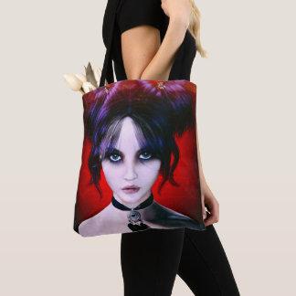 Tote Bag Portrait déprimé de fille de Goth