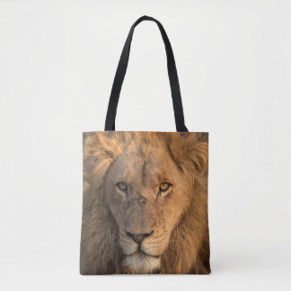 Tote Bag Portrait d'un lion masculin