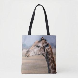 Tote Bag Portrait d'une girafe