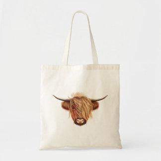 Tote Bag Portrait illustré des bétail des montagnes