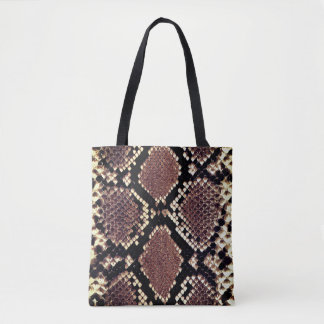 Tote Bag Poster de animal exotique de peau de serpent de