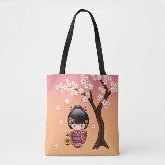 Tote Bag Poupée de Sakura Kokeshi - fille de geisha
