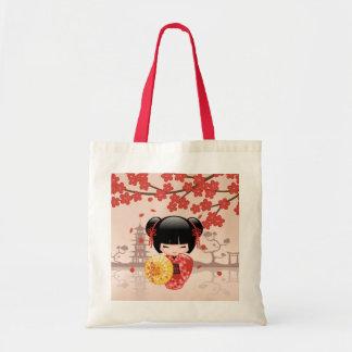 Tote Bag Poupée rouge de Sakura Kokeshi - geisha japonais