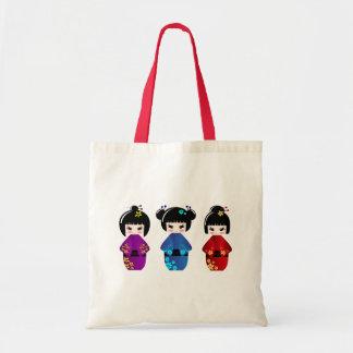 Tote Bag Poupées de Kokeshi