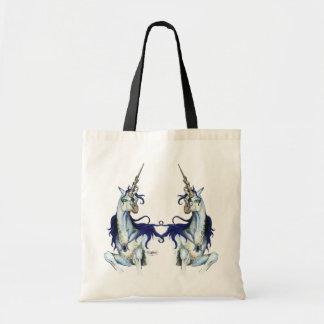 Tote Bag Pourpre magique de licorne de noir bleu