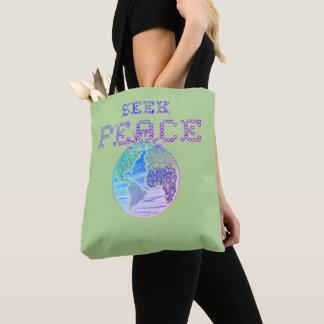 Tote Bag Poursuivez la terre de paix