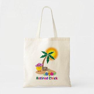 Tote Bag Poussin retiré sur l'île tropicale