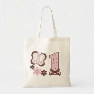 Tote Bag Premier anniversaire de papillon rose