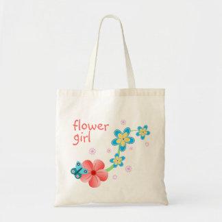Tote Bag Préposé floral de mariage de papillon de