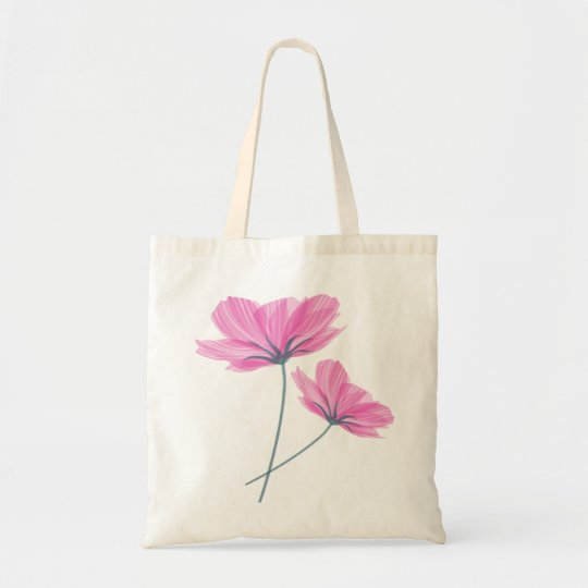 Tote Bag Pretty pink flower drawing
