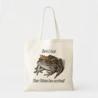 "Tote Bag Prince de grenouille - ""ici je suis """
