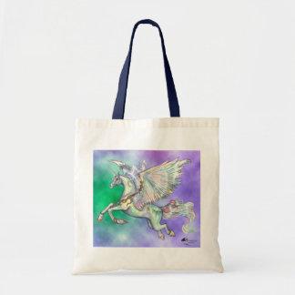 Tote Bag Princesse magique Green Cloud de licorne féerique