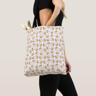 Tote Bag Princesse molle Crown Pattern de gradient d'or