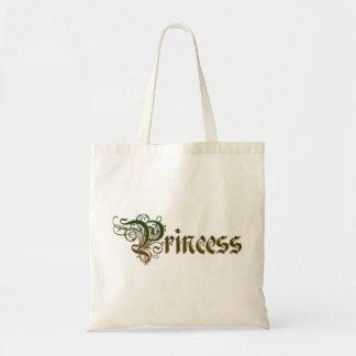 Tote Bag Princesse Text Written dans le gradient de couleur